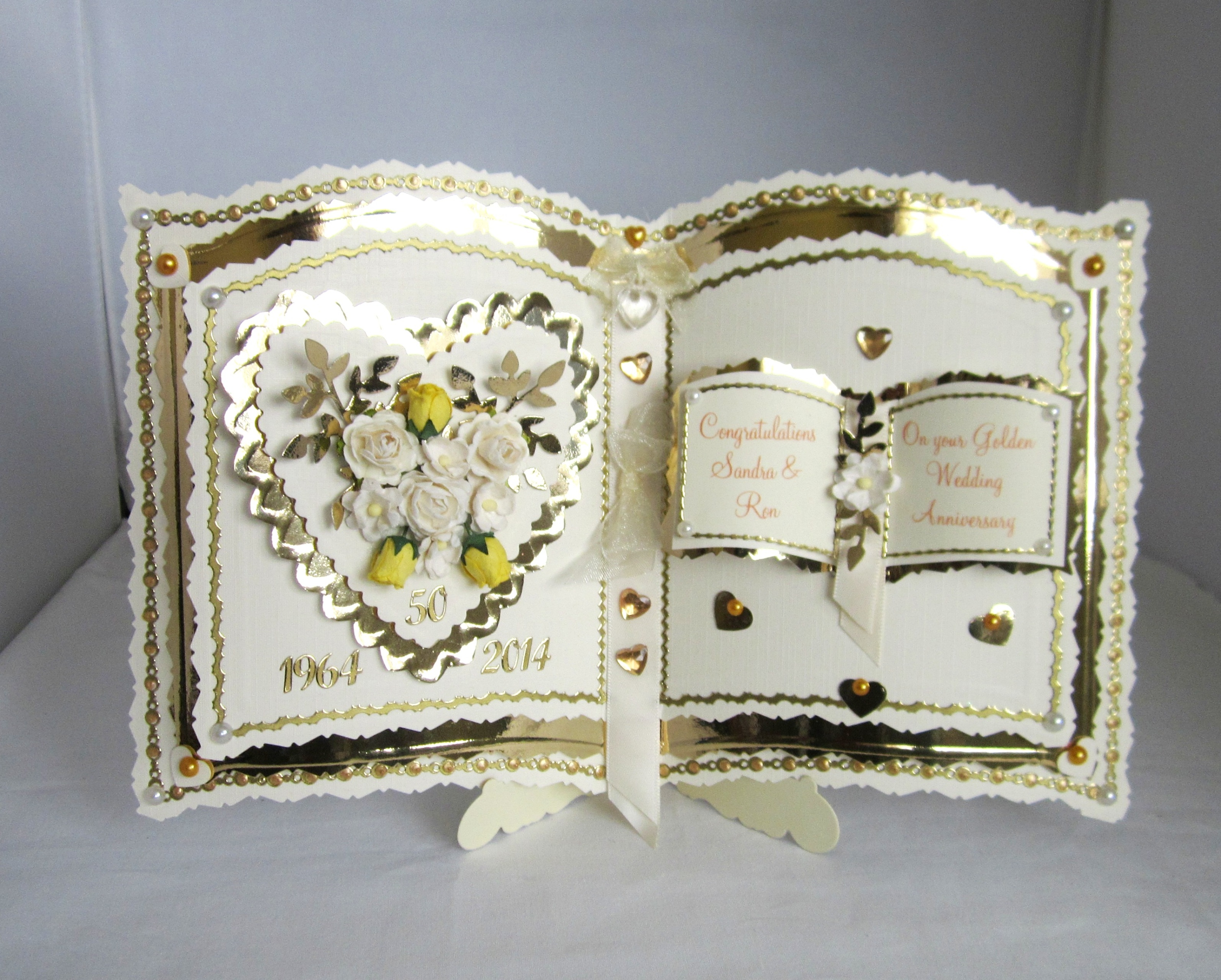 Bookatrix Golden Wedding Anniversary Card