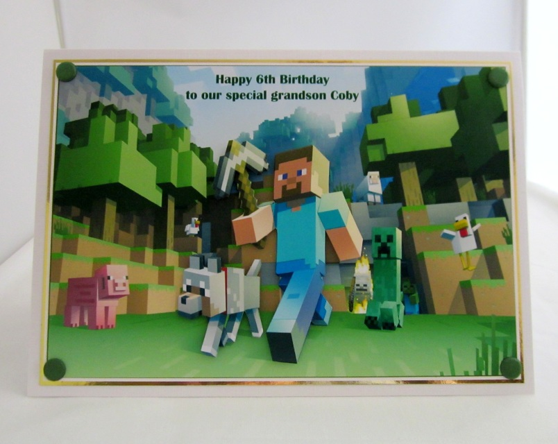 Minecraft birthday card layered bookmarktalkfo Image collections